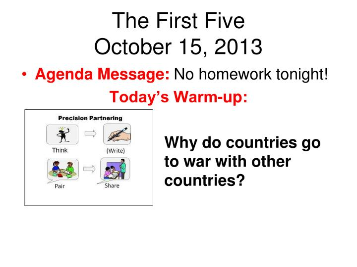 The first five october 15 2013