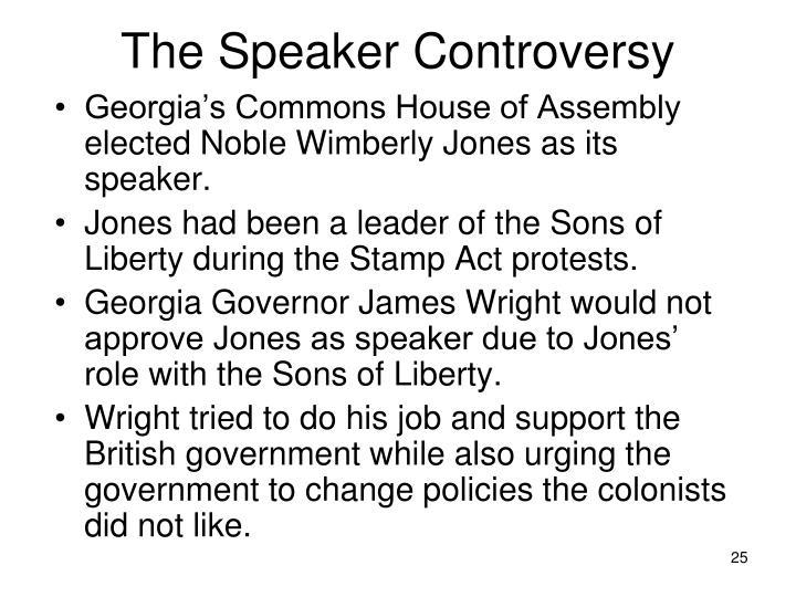The Speaker Controversy