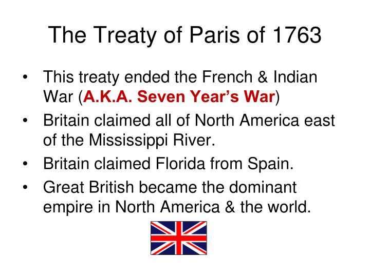 The Treaty of Paris of 1763