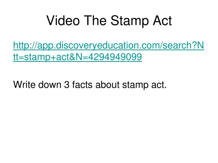 Video The Stamp Act