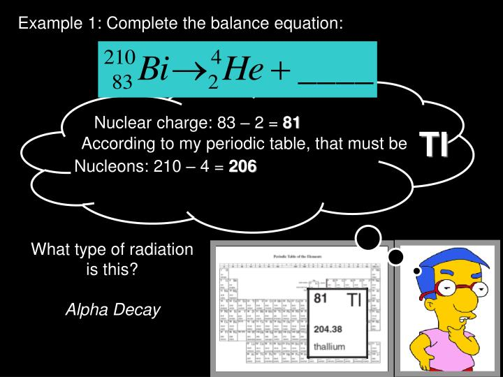 Example 1: Complete the balance equation: