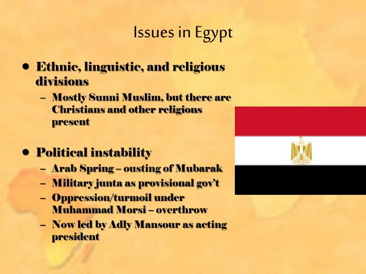 Issues in Egypt