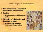 other struggles in decolonization