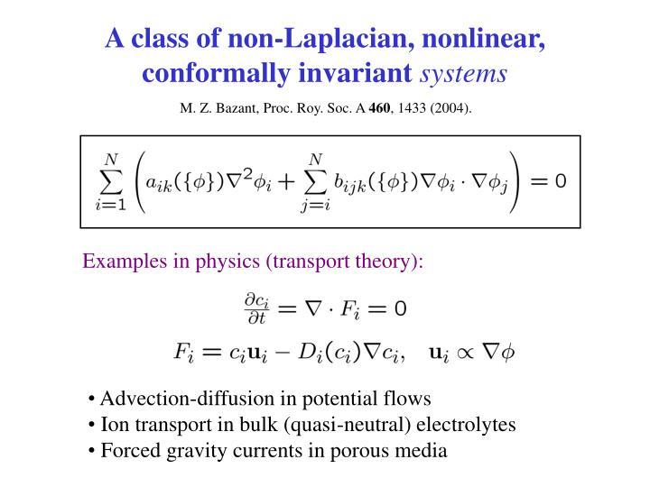 A class of non-Laplacian, nonlinear, conformally invariant