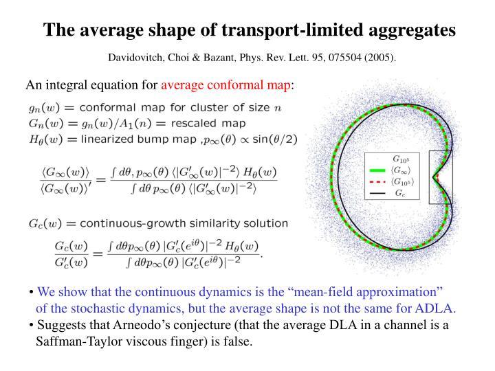 The average shape of transport-limited aggregates