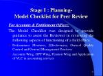 stage i planning model checklist for peer review1
