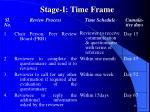 stage i time frame