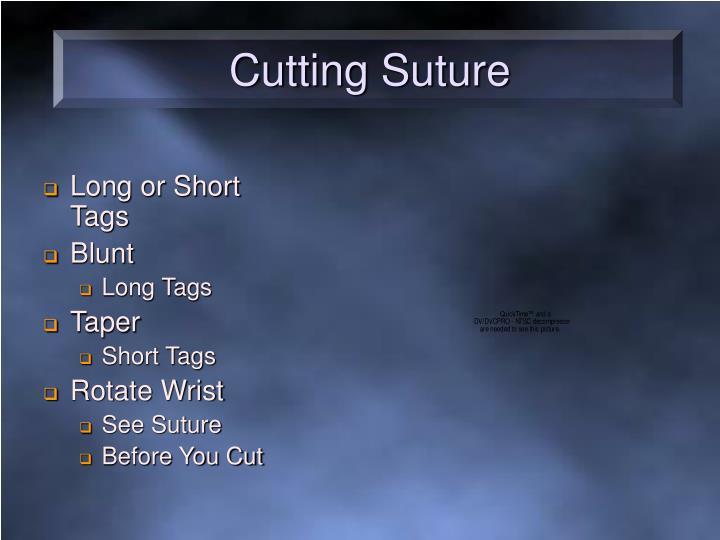 Cutting Suture