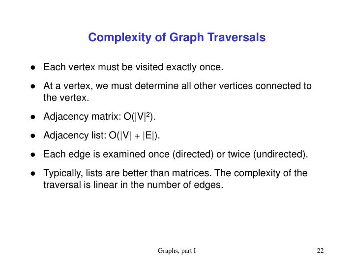 Complexity of Graph Traversals