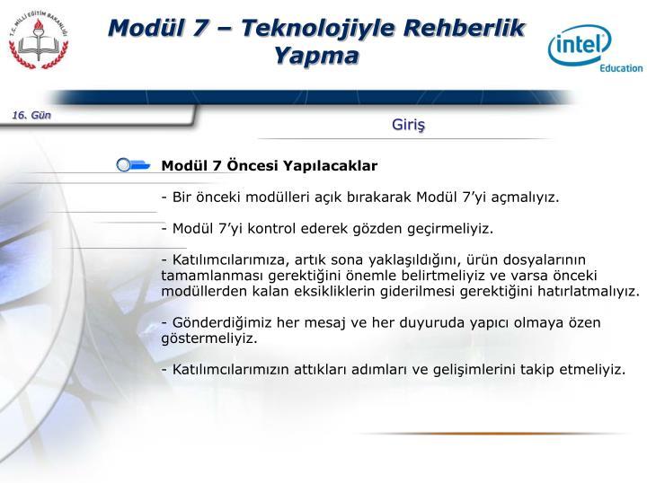 Mod l 7 teknolojiyle rehberlik yapma