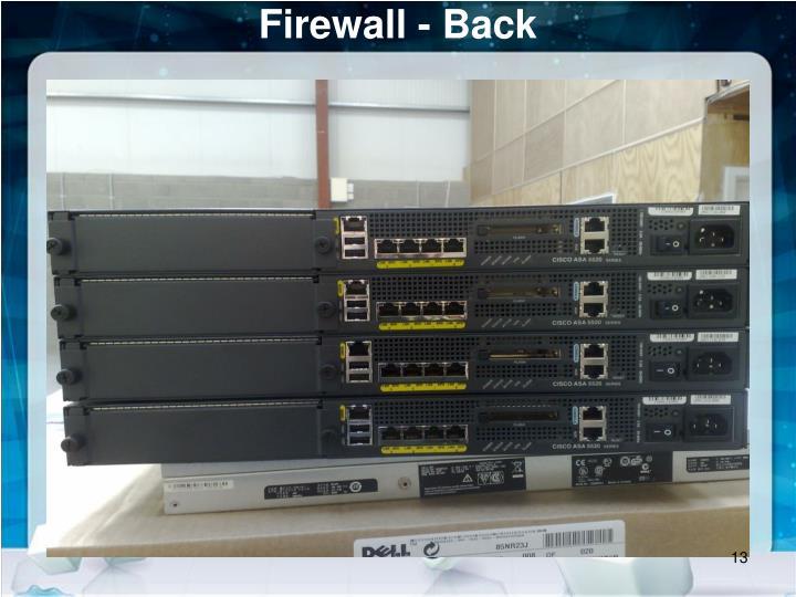 Firewall - Back