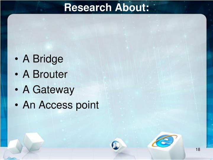 Research About: