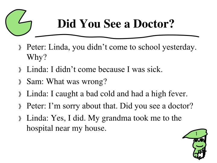 did you see a doctor n.