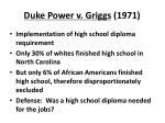 duke power v griggs 1971