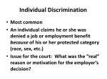 individual discrimination