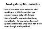 proving group discrimination
