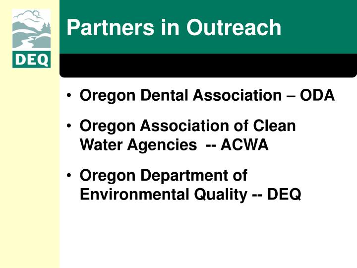 Partners in outreach