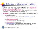 different conformance relations
