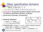 other specification domains