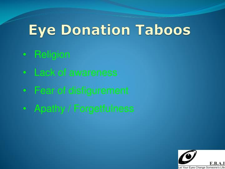 Eye Donation Taboos