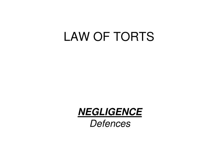 the law of torts essay A tort is primarily a civil wrong which is essentially concerned with compensation for damages as a result of the defendants acts or omissions.