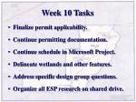 week 10 tasks