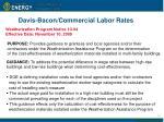 davis bacon commercial labor rates