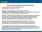 davis bacon wage determinations