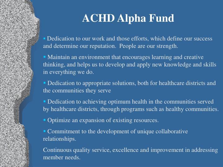 ACHD Alpha Fund