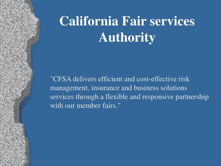 California Fair services Authority