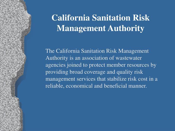 California Sanitation Risk Management Authority