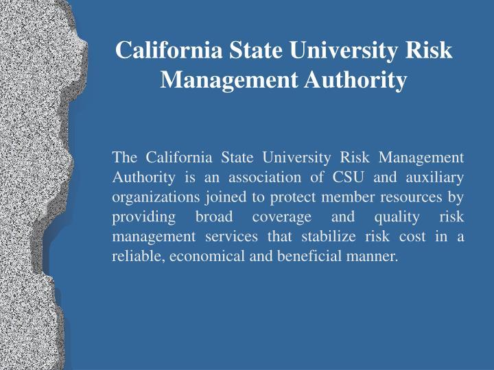 California State University Risk Management Authority