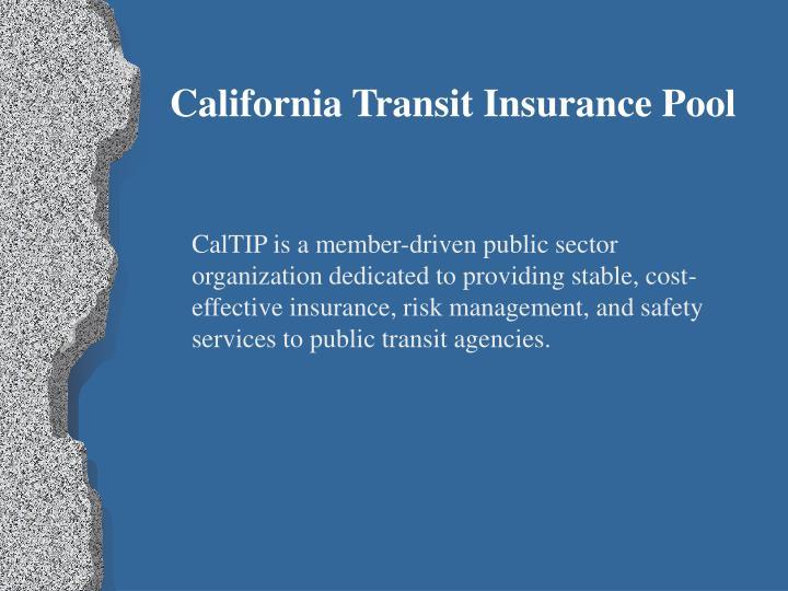 California Transit Insurance Pool