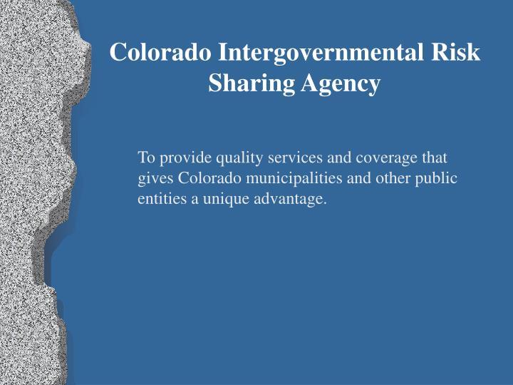Colorado Intergovernmental Risk Sharing Agency