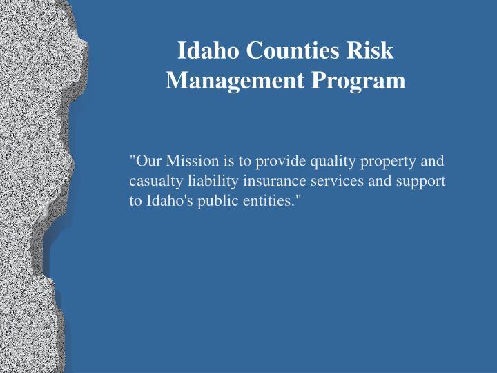 Idaho Counties Risk