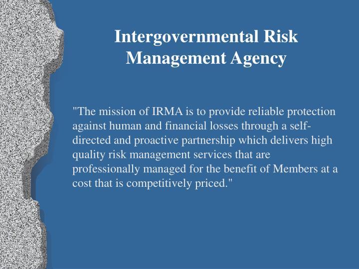 Intergovernmental Risk