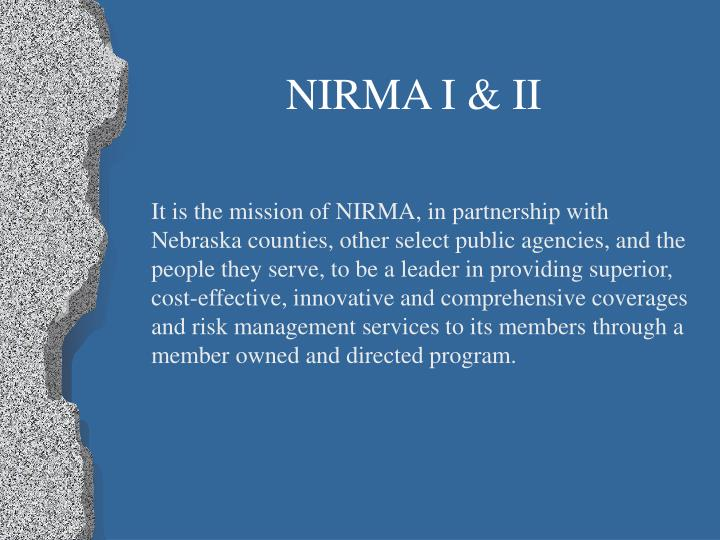 NIRMA I & II