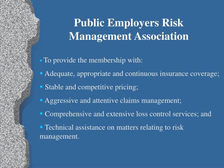 Public Employers Risk