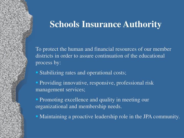Schools Insurance Authority