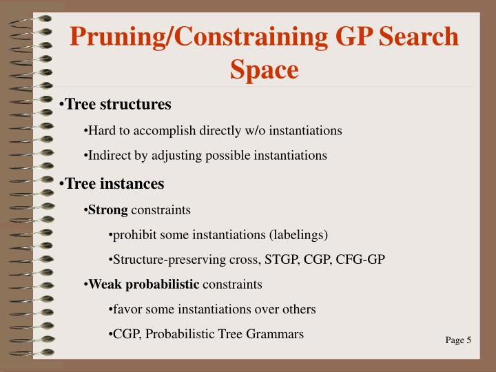 Pruning/Constraining GP Search Space