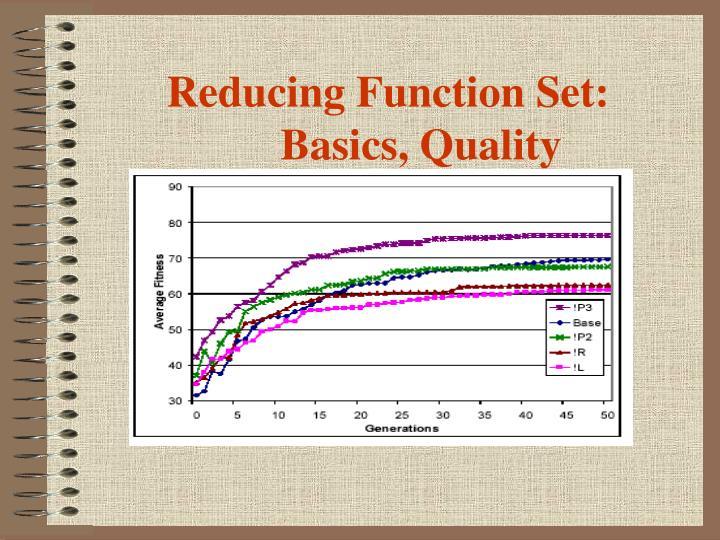 Reducing Function Set: