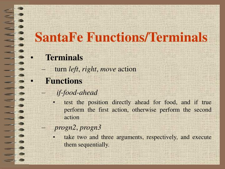 SantaFe Functions/Terminals