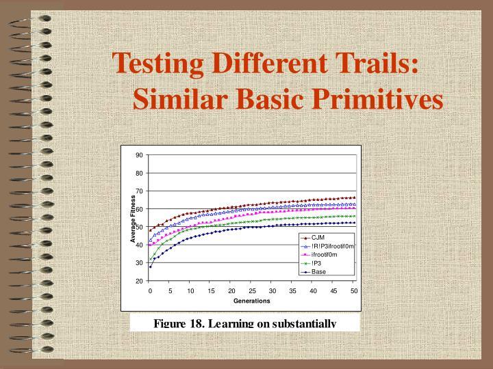 Testing Different Trails: Similar Basic Primitives