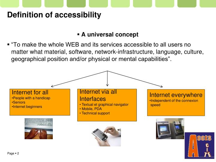 Definition of accessibility