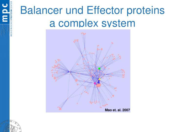 Balancer und Effector proteins