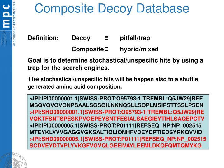 Composite decoy database
