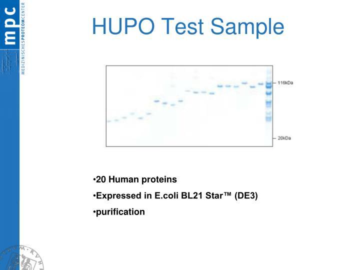 HUPO Test Sample