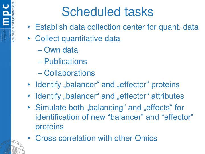 Scheduled tasks