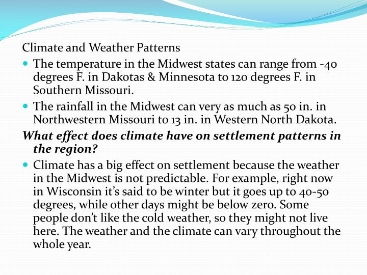 Climate and Weather Patterns
