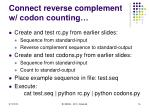 connect reverse complement w codon counting